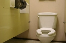 Bathroom-Stall-BEFORE-picture-Core-Mark-Bathroom-Remodel-by-Hardline-Design-and-Construction-Oregon-and-Washington