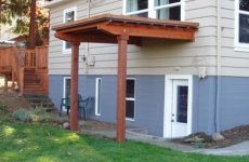 Eco Roof Over Basement Entry